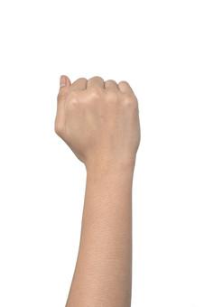 人物 背景 白 白背景 白バック 切り抜き パーツ ボディパーツ 腕 数字 片手 ポイント 指 手首 ジェスチャー 身ぶり 指示 カウント 番号 肌 余白  シンプル ハンドパーツ 右手 グー ジャンケン 人の手 拳 こぶし