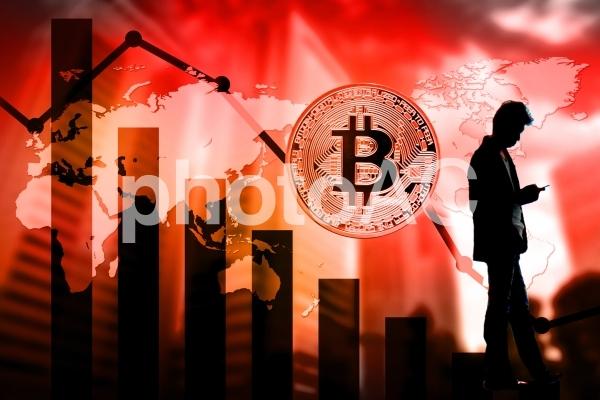 ビットコインの落ち込みの写真