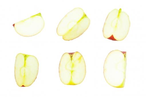 林檎切り抜きセット3の写真