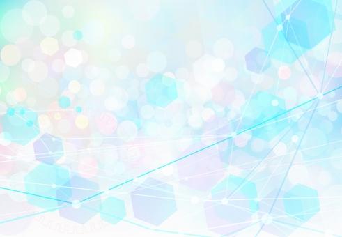 ネットワークテクノロジー抽象背景素材-ファンタジーカラーの写真