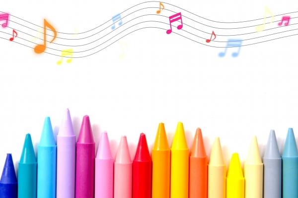 クレヨン 音符  カラフルポップの写真