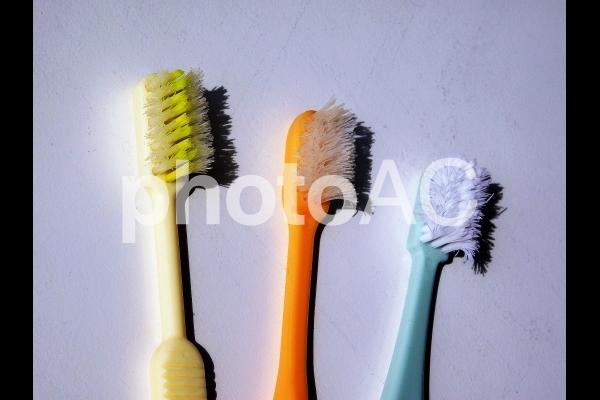 使用済み歯ブラシの再利用の写真