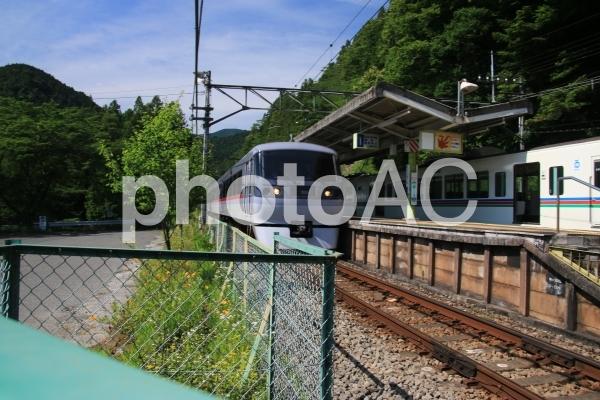 西吾野駅通過中の10000系レッドアローの写真