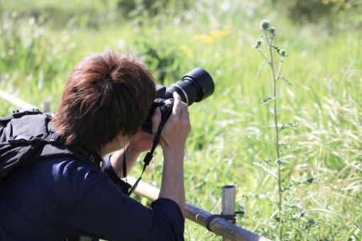 カメラ男子の写真