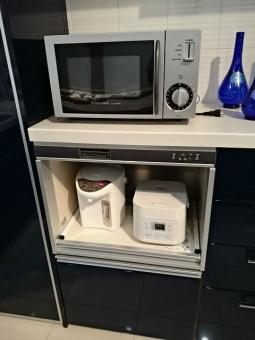 電子レンジ ポット 炊飯器 台所 家電 給湯 電子ジャー レンジ チェスト キャビネット