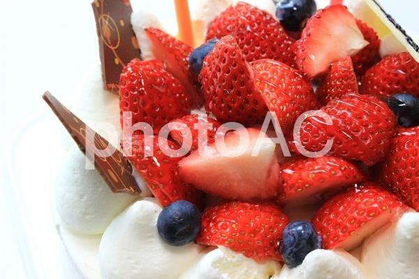 苺のケーキの写真