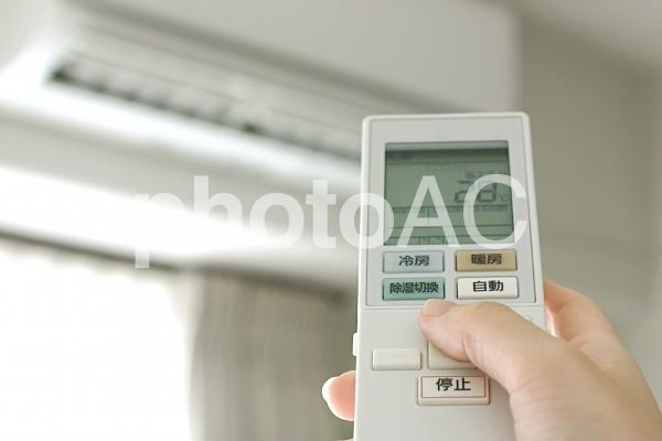 エアコンの操作の写真
