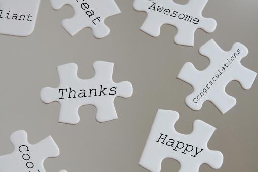 パズル ピース ジグソーパズル 感謝 ありがとう 一言 伝言 気持ち 英単語 英語 単語 メッセージ アルファベット 英文字 文字 お礼