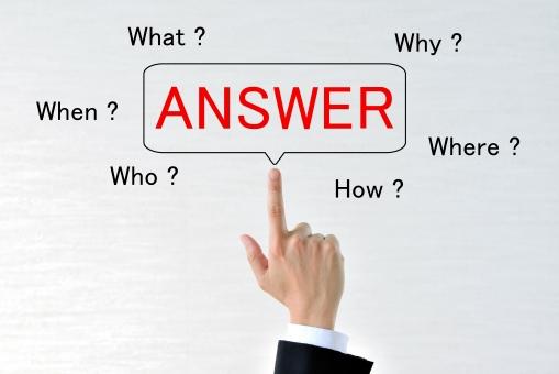 ビジネスイメージ―疑問と答えの写真