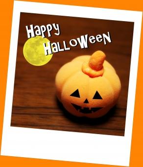 オバケ お化け おばけ ハロウィン ハロウィーン Halloween オレンジ カボチャ かぼちゃ 南瓜 ジャック・オ・ランタン ジャック・オー・ランタン 満月 ポラロイド 粘土 秋 橙 お月様 moon