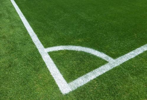 サッカー コーナーエリアの写真