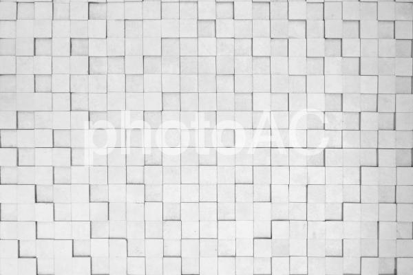 白い正方形のレンガのテクスチャ背景素材の写真