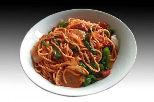 ナポリタン スパゲティ スパゲッティ pasta パスタ 西洋料理 洋食 イタリア料理 イタリアン italian 麺 麺類 麺料理 食べ物 食品 食材 食事 食卓 食器 食事の風景 食卓の風景 料理 調理 gourmet グルメ 懐かしい食べ物 昭和