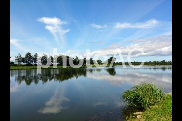 北海道新篠津村しのつ湖の写真