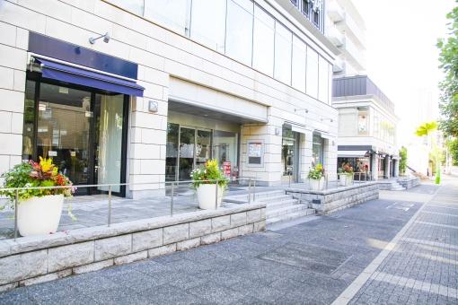 代官山 街 町 おしゃれ ショップ レストラン カフェ 通り ストリート ショッピング 大人 都会 東京 渋谷区 ビル 建物 歩道 街路樹 木 ウィンドウ ウィンドウショッピング 散歩 街角 風景 景色 都心 都心