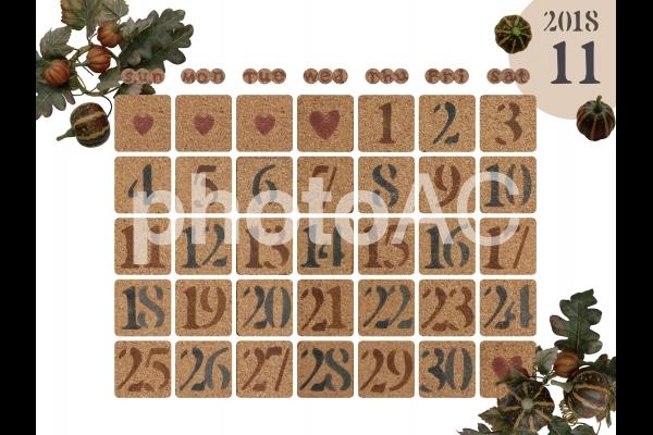 カレンダー 2018年11月の写真