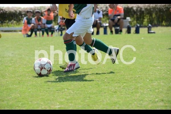 少年サッカーイメージの写真