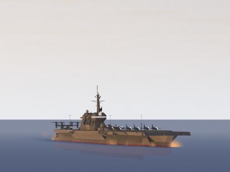 空母 自衛隊 いずも 海 艦船 オスプレイ 潜水艦 夕焼け
