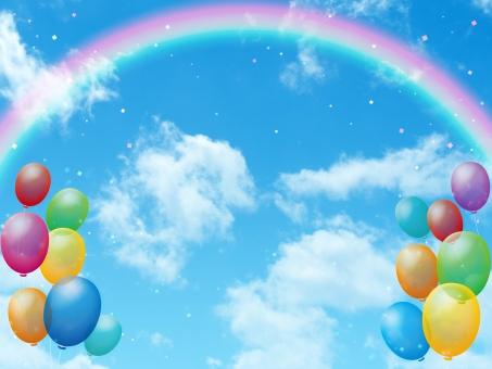 青空 空 天 天空 そら 雲 白雲 白い雲 晴れ お天気 快晴 大空 風船 バルーン ふうせん イラスト 加工 イベント お祝い 祭 お祭り 催し パーティー パーティ 会合 平和 安らぎ 爽やか さわやか 清々しい 平穏 暖かい 感謝 おめでとう 楽しい 賑やか にぎわい 子ども 児童 園児 誕生日 周年祭 生誕祭 結婚式 ウェディング ウェルカムボード 万人受け バースデー ファンシー ファンタジー かわいい 元気 カラフル ビタミンカラー フレーム 枠 背景 バック バックグラウンド テクスチャ テクスチャー やわらかい 雰囲気 イメージ 紙吹雪 きらきら キラキラ 受賞 アワード 表彰 虹 レインボー 架け橋