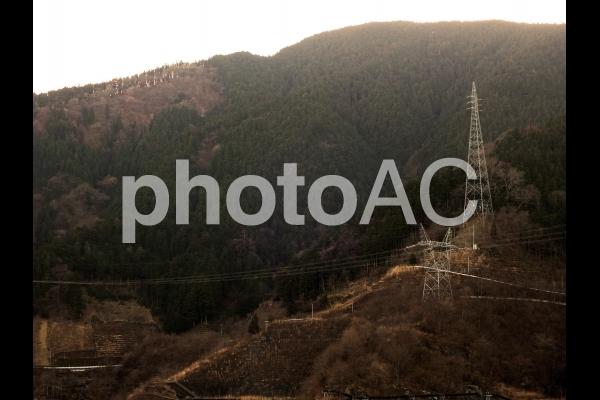 鉄塔がある風景の写真