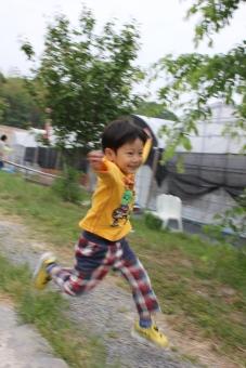 ジャンプ 跳躍 跳ねる 子供 元気 幼児 自然 育児 子育て 健康 楽しい
