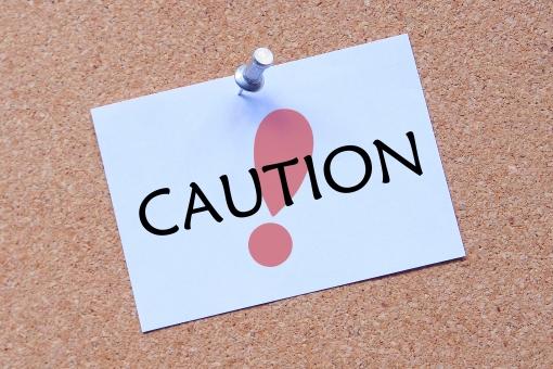 caution 警告 アラート 危険 英単語 英語 英文字 文字 アルファベット 張り紙 掲示板