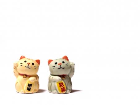 マネキネコ 招き猫 招きねこ 招きネコ まねきねこ まねき猫 猫 ネコ ねこ 置物 置き物 陶器 招く 福 縁起物 縁起 年賀状 商売繁盛 めでたい