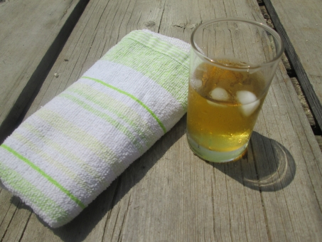 おしぼり 来客 おもてなし お茶 緑茶 冷たい 夏 氷 接客 喫茶店 喫茶 水分
