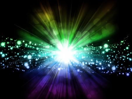 宇宙からの光の写真