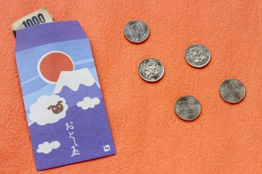 羊 未年 和紙 小物 お年玉 ポチ袋 お正月 日本 千円札 百円玉 硬貨 お金 おこずかい