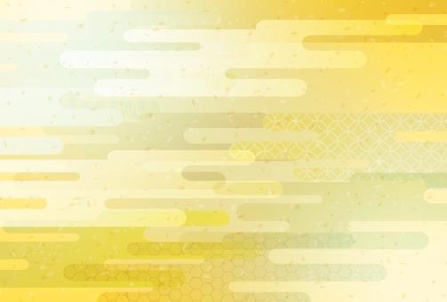 金色の和風柄の写真