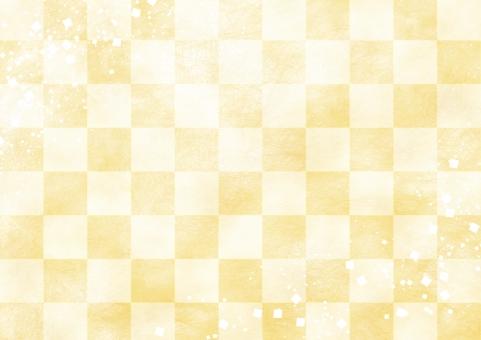 市松模様 黄の写真