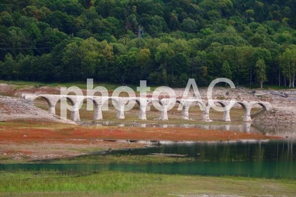 北海道、タウシュベツ川橋梁の写真