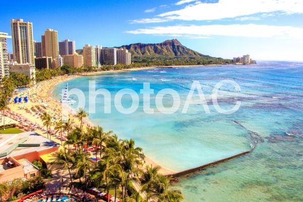 ハワイのワイキキビーチの写真