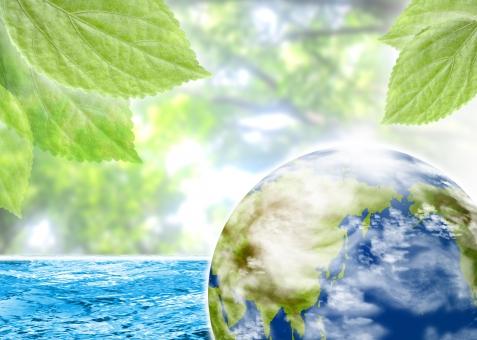 エコ 地球 海 水面 青 ブルー blue 緑 葉っぱ green leaf 自然 nature 環境 環境保護 自然 自然保護 環境問題 earth sea 背景 背景素材 バック バックグラウンド background チラシ パンフレット カタログ ポスター 表紙