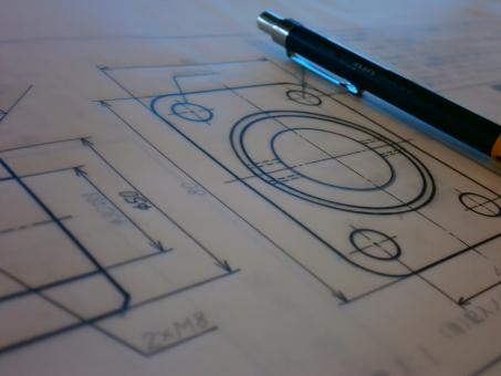 図面 製図 図 数値 数字 線 矢印 ペン シャーペン 白 黒 白黒