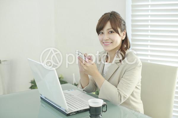 パソコンとOL73の写真