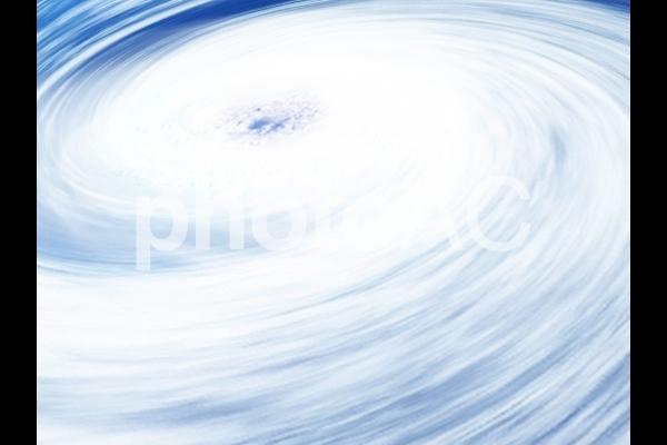 台風の目(CG)の写真