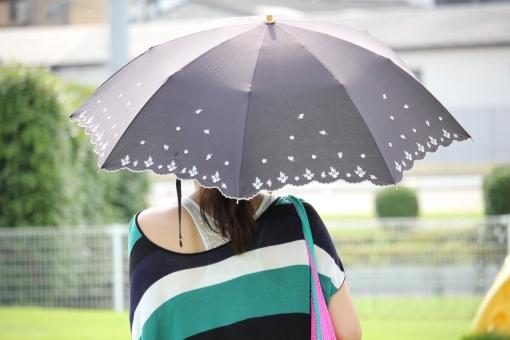 ママ 後ろ姿 日傘 日よけ 女性 女子 女 母