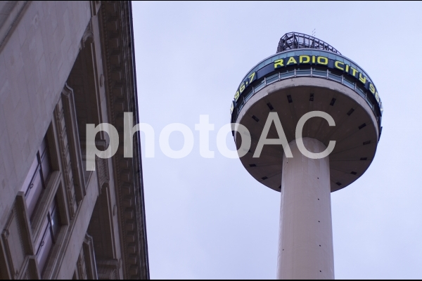イギリス-リバプール-ラジオ・シティ・タワーの写真
