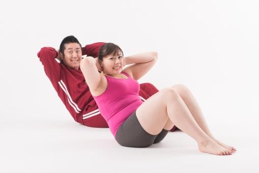 日本人 女性 男性 二名 二人 男女 カップル 友人 友達 仲間 ぽっちゃり 肥満 ダイエット 痩せる 痩せたい 目標 ビフォー アフター 太っている 太り気味 メタボ メタボリックシンドローム 脂肪 体系 ボディー 白バック 白背景 ジャージ 並ぶ 整列 体育座り 運動 ウォーミングアップ 座る トレーニング 筋肉 筋トレ 6パック シックスパック 腹筋運動 起き上がる つらい きつい 手を組む 手を後ろに組む 全身 mdjf020 mdjm017