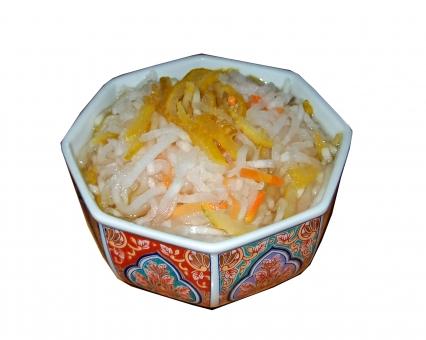 なます 酢の物 大根 だいこん ダイコン ゆず 小鉢 食べ物 食品 食材 料理 調理 日本食 和食 グルメ 箸休め 野菜 風景 景色 白抜き にんじん ニンジン 人参