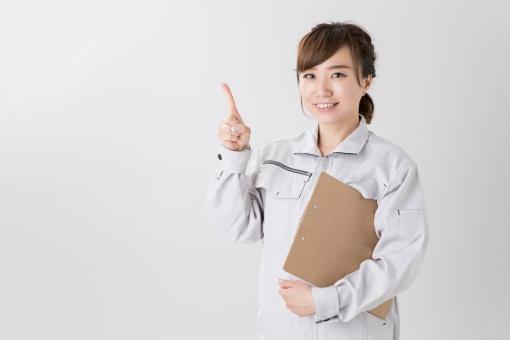 作業服を着たビジネスウーマンの写真