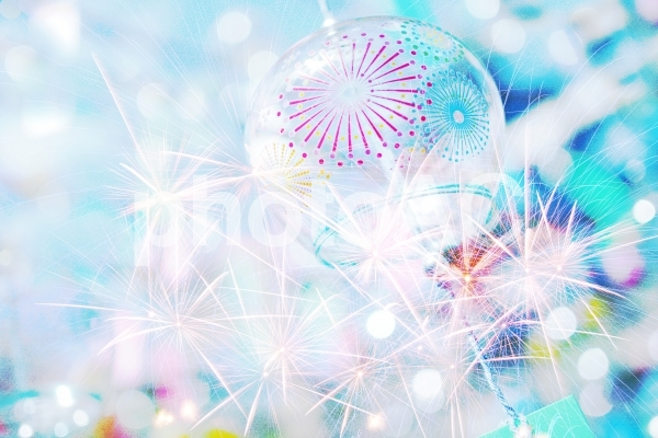 キラキラな夏(フォトモンタージュ)の写真