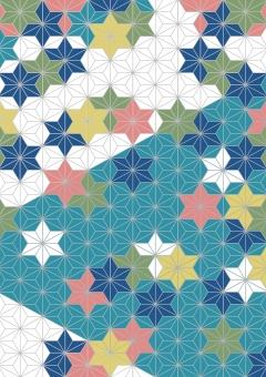 夏 浴衣 年賀状 和柄 着物 京都 葉 麻 麻の葉 和風 黄色 緑 白 深緑 青 水色 紺 黄緑 ピンク 背景 テクスチャ テクスチャー 素材 紙 クラフト 布 高級 和 柄 和紙