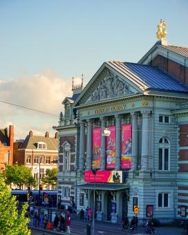 コンセルトへボウ コンセルトヘバウ コンサートヘボウ アムステルダム オランダ 音楽 クラシック ジャズ 演奏 観光 観光地 名所 見どころ 空 夕焼け