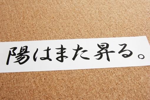 陽はまた昇る 格言 名言 ことわざ 故事 言葉 日本語 チャレンジ 挑戦 再起 夢 希望 目標 ゴール メッセージ 仕事 ビジネス リストラ 失敗 どん底 受験 試合 競技 負け組 敗者 復活 再挑戦 もう一度 素材 背景