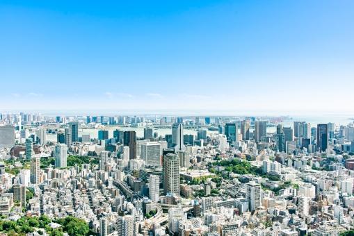 東京の街並みの写真
