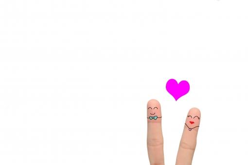 指カップルの写真