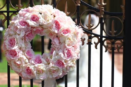 結婚 WEDDING 結婚式 花嫁 マリッジ 花 リース ジューンブライド ガーデン ウェディングドレス ウェディング 庭 式 愛 婚姻 門 花輪